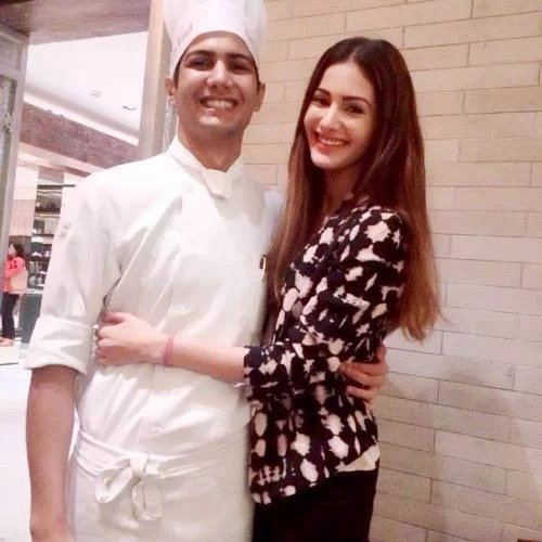 Amyra with her brother