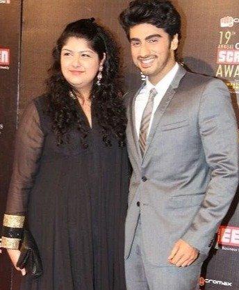 Jhanvi Kapoor's half-brother Arjun Kapoor and half-sister Anshula Kapoor photo