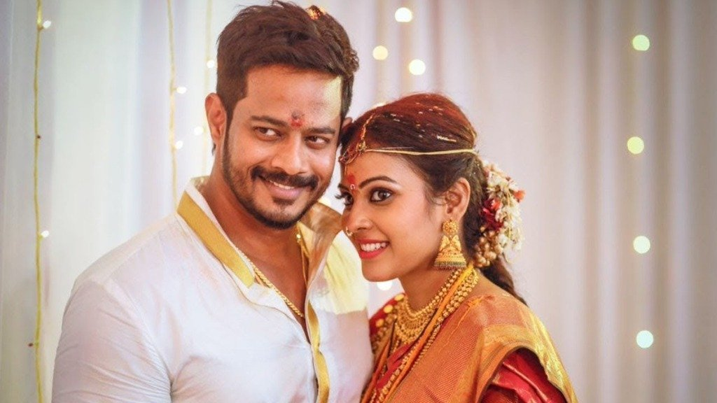 Chandini Tamilarasan and Dance Master Nandha Marriage Photo