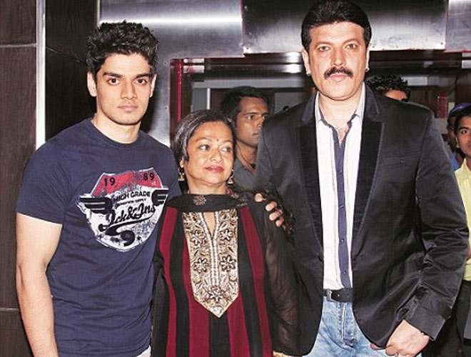 Sooraj Pancholi with his father and mother