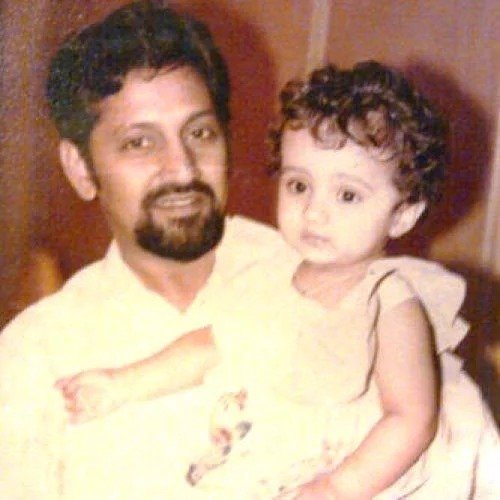 Trisha childhood with her father