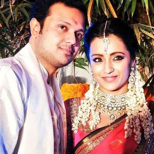 Trisha with her ex-fiance