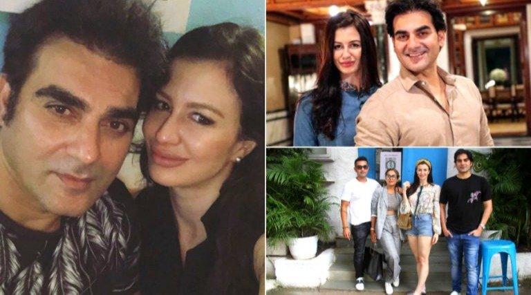 Arbaaz Khan andGiorgia Andriani together photo