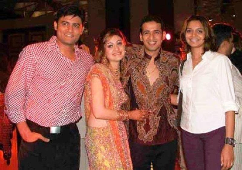 Shefali Jariwala with Her Ex-HusbandHarmeet Singh