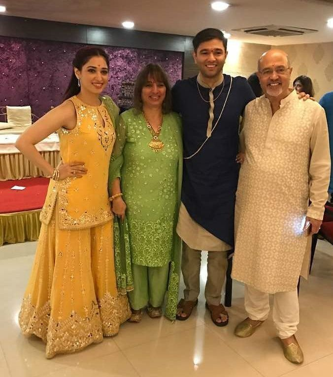 Tamanna with her family photo