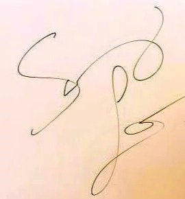 Sunny Leone Hand Signature