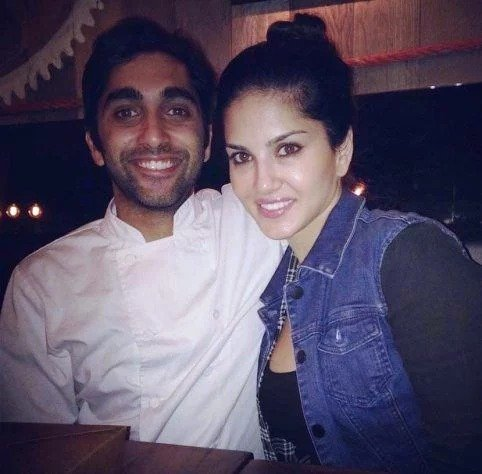 Sunny Leone with her brother Sundeep Vohra photo