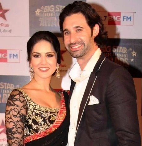 Sunny Leone with her husband Daniel Weber Photo